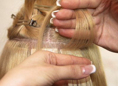Tape hair extensions 3
