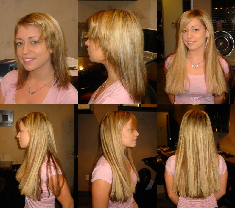 hair extensions before after