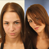 long hair integration for women