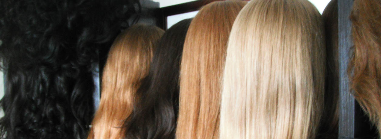 Woman's wigs banner